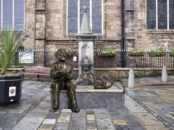 Plan for Hugo bench outside Town Church
