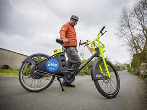 Picture by Sophie Rabey.  06-04-21.  Phil Le Poidevin from EVie Bike, Electric Bikes are now used in Guernsey, providing active, sustainable travel for islanders.. (29407733)