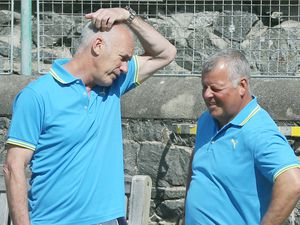 Once Muratti football team-mates, Chris Dyer and Micky Ogier will team up again at the St Saviour's Club next month.   (Picture by Adrian Miller, 22264353)