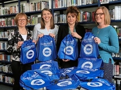 Book bags for newborns the brainchild of nurse