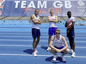 ATHLETICS Cameron Chalmers (front) and teammates at the Team GB holding camp in Yokohama ahead of the Tokyo 2020 Olympics. Picture from @CamChalmers400 Twitter feed (29787184)