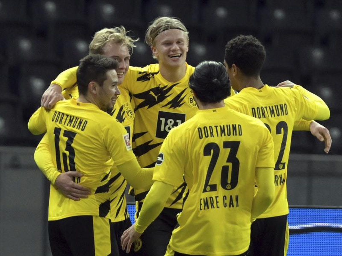 Erling Braut Haaland hits four as Borussia Dortmund crush Hertha Berlin