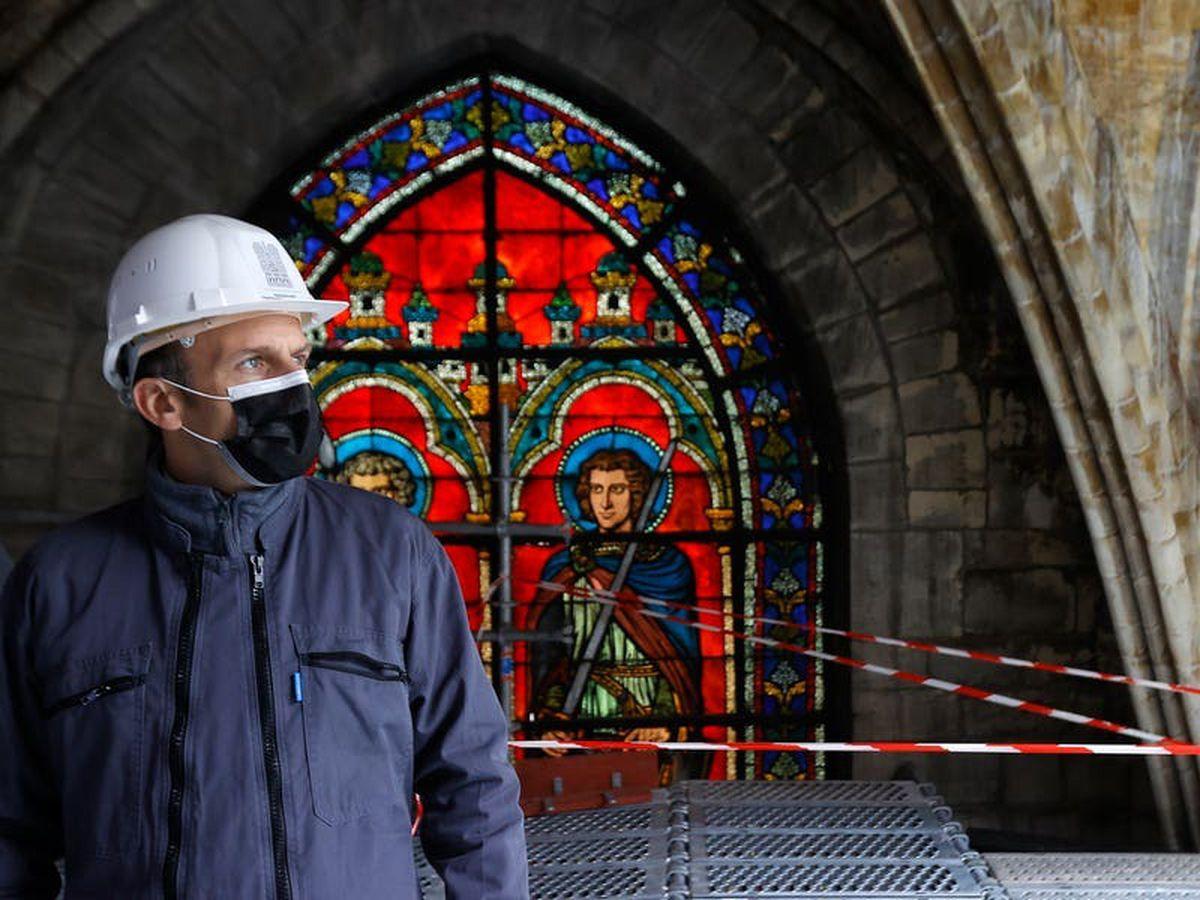 Macron hails 'huge job' rebuilding Notre Dame after devastating fire