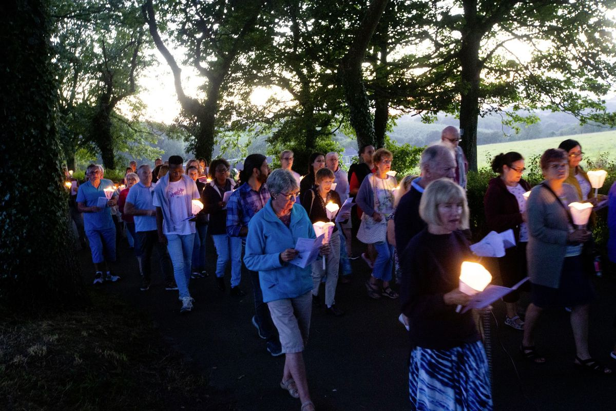 Some of the participants in the 50th anniversary torchlight procession. (Picture by Cassidy Jones, 29875734)
