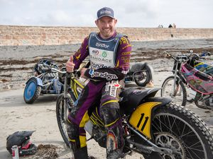 Pic supplied by Andrew Le Poidevin: 28-09-2019...Condor Ferries International Sand Ace ACU British Championship at Vazon Bay. Paul Cooper defended his title with a dominate performance.. (25939118)