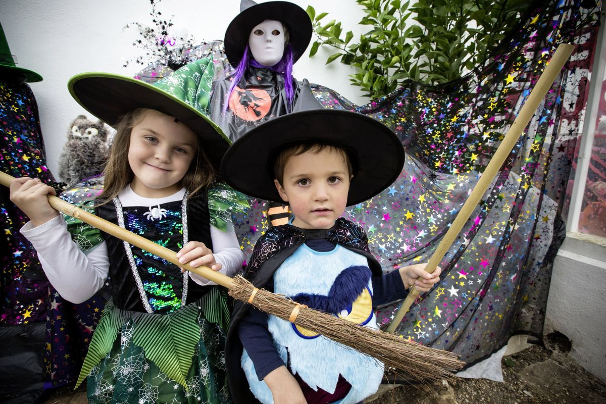Grace, 6, and Matthew, 4, Carvill were dressed in their spooky best. (Pictures by Adrian Miller, 28835382)