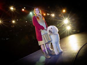 Eliza Webster and Poppy the dog, who are playing Annie and Sandy in Gadoc's production of Annie. (Pictures by Peter Frankland, 29840480)