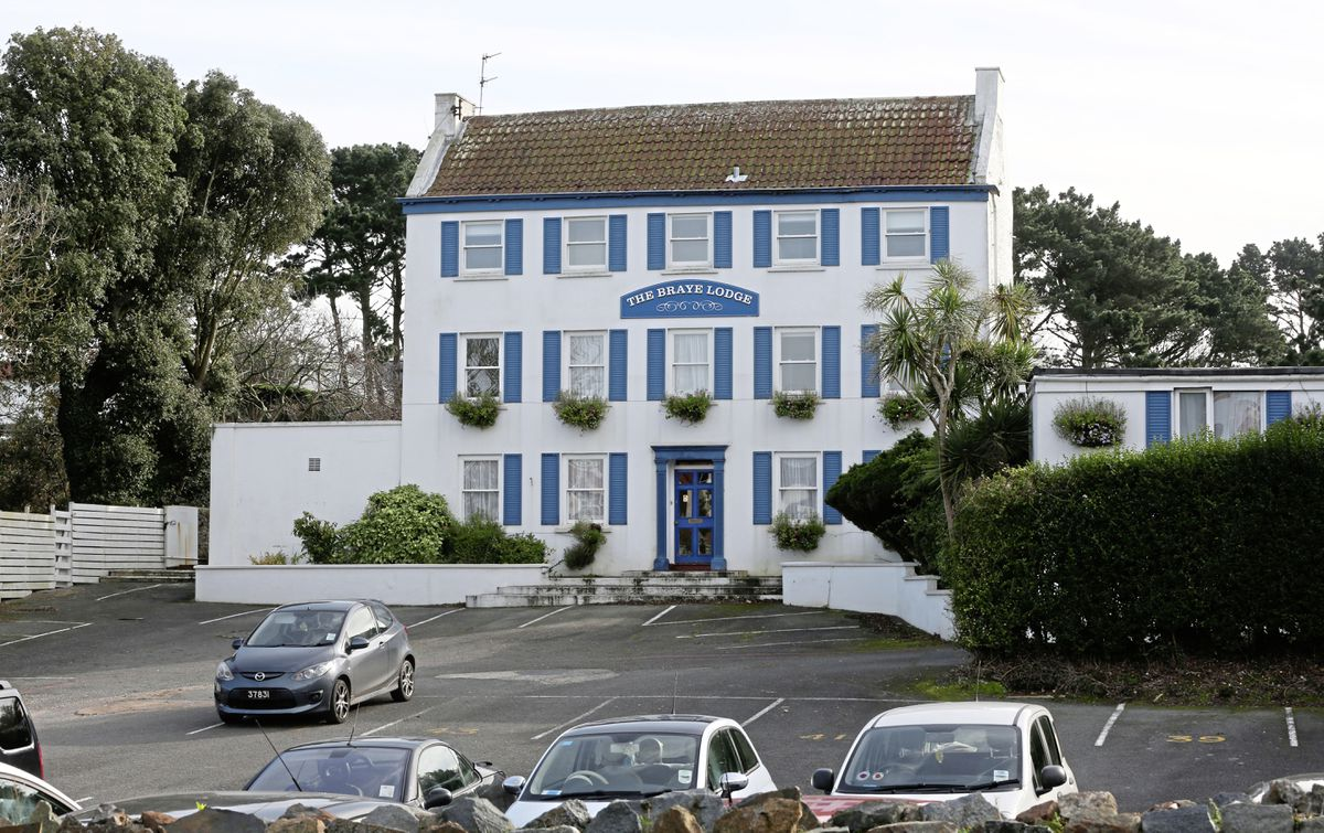 The former Braye Lodge Hotel in Ruettes Brayes has been a lodging house for 10 years and is in a housing target area, so planners would consider allowing its demolition and construction of up to 20 houses on the site.(Picture by Adrian Miller, 19737738)