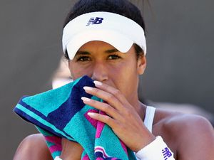 Rallying back: Heather Watson has responded strongly to social media taunting.