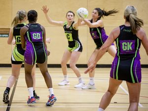 Picture by Sophie Rabey.  04-02-20.  Netball at Les Beaucamps.  Titans A vs Rezzers Green.. (27084168)