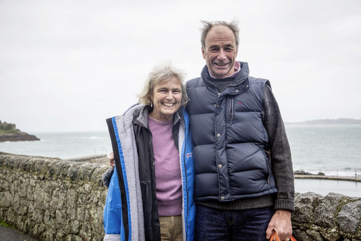 Penny and Adrian Heyworth had many years of running Herm. Both were disappointed that the Aquarium had closed and Mrs Heyworth suggested using the tunnels as a crustacean breeding centre. (Picture by Sophie Rabey, 26891125)