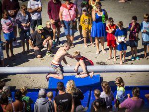 Picture by Sophie Rabey.  05-09-20.  Rocquaine Regatta Greasy Pole.. (29807493)