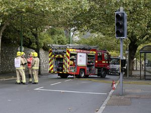 St Julian's Avenue was closed after reports of a fire in an electricity sub-station which knocked out power to properties nearby. (Picture by Adrian Miller, 28785882)