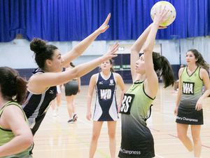 Pic by Adrian Miller 19-01-19 Beau Sejour Netball Panthers v Royals (26929103)