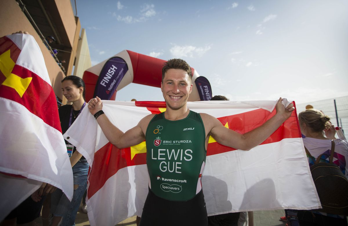 Island Games gold medallist Josh Lewis is eligible for elite athlete dispensation to continue training in the UK during lockdown. (Picture by Peter Frankland, 29085126)