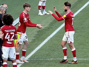 Alex Scott coming on as a substitute to make his first-team debut for Bristol City in their 3-2 Championship defeat to Luton Town at Ashton Gate, 25-04-21..Picture by JMPUK [PLEASE CREDIT]. (29479821)