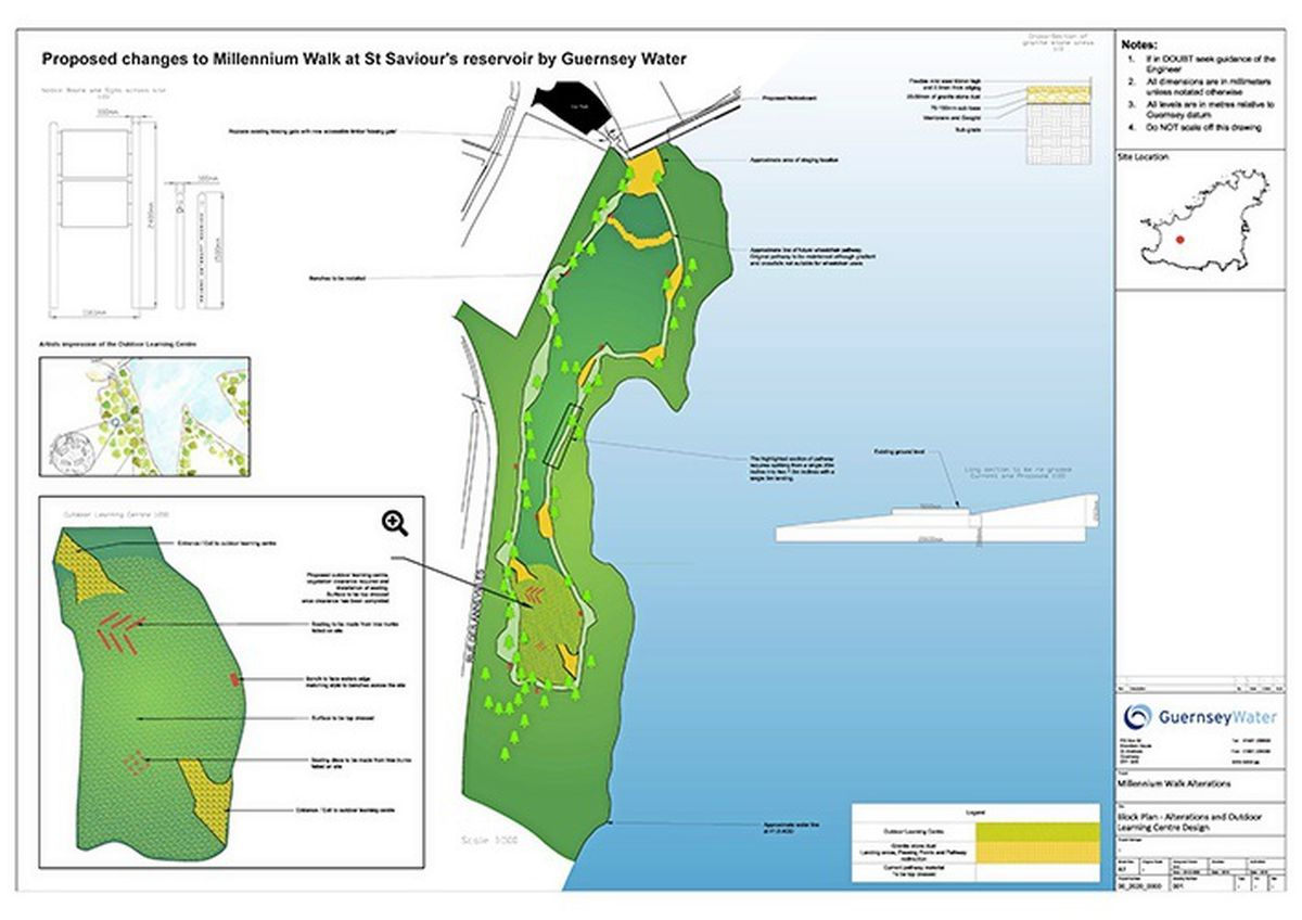 Plan supplied by Guernsey Water giving details of the work it plans to carry out.