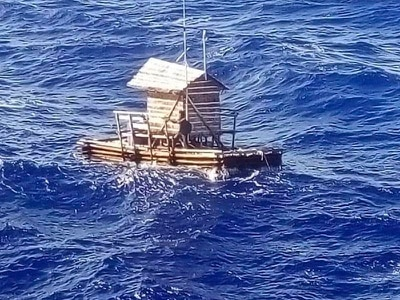 Indonesian teenager survives 49 days adrift at sea on wooden fishing raft