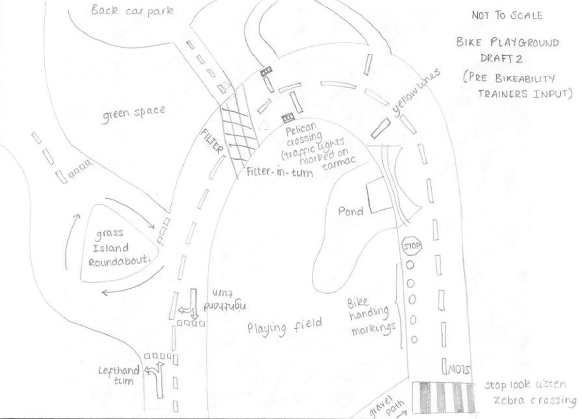 Saumarez Park bike playground design draft, giving a taster of what may be expected in the installation. Image supplied by Alun Williams.  (28695897)