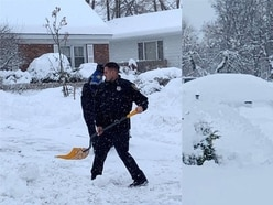 Police praised after clearing snow for 99-year-old resident