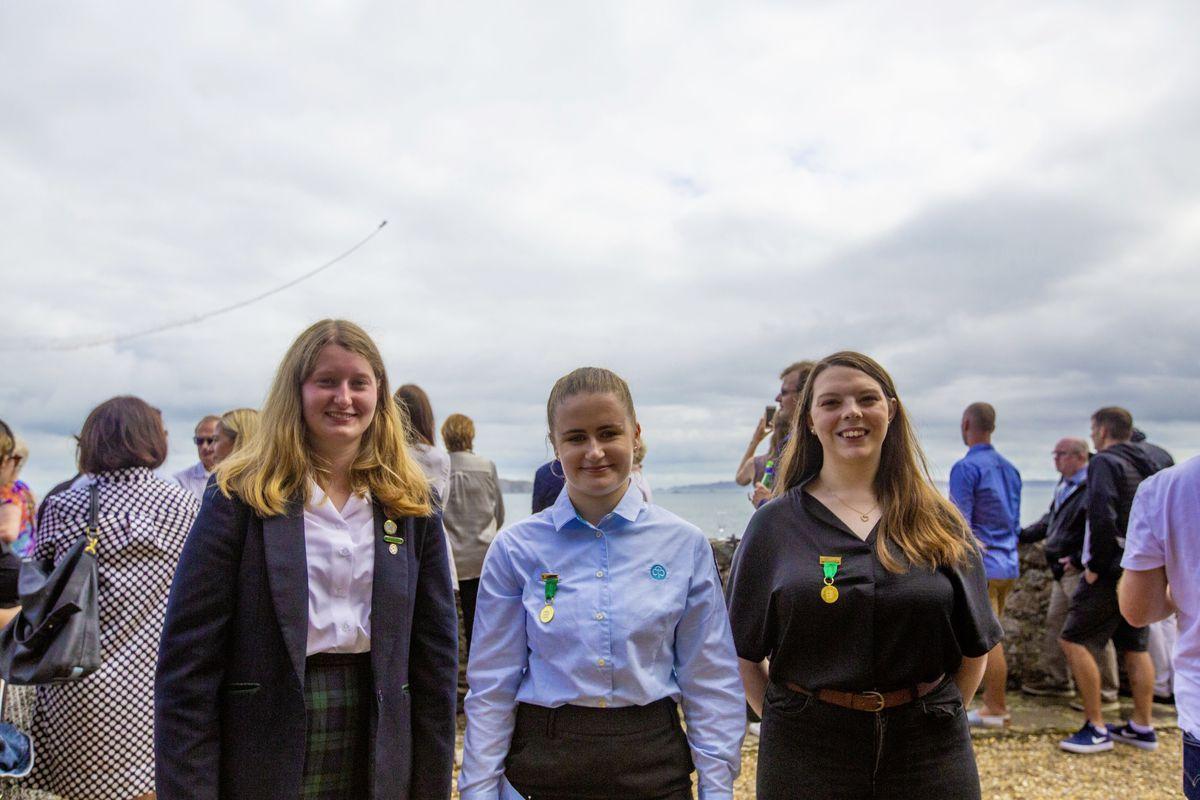 Left to right: Ellie Dufty (17), Lauren Walsh (16), Zara Honey (16). (29972035)