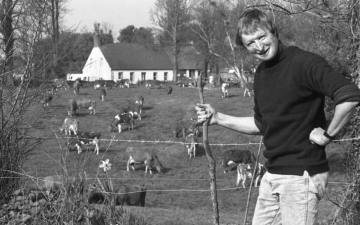 James Partridge pictured in 1991 on his beloved dairy farm in St Andrew's, which he had to sell due to the demands of running a UK-wide charity. (28390108)