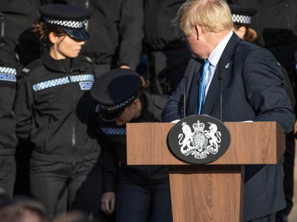 Police chief disappointed PM used officers as speech backdrop