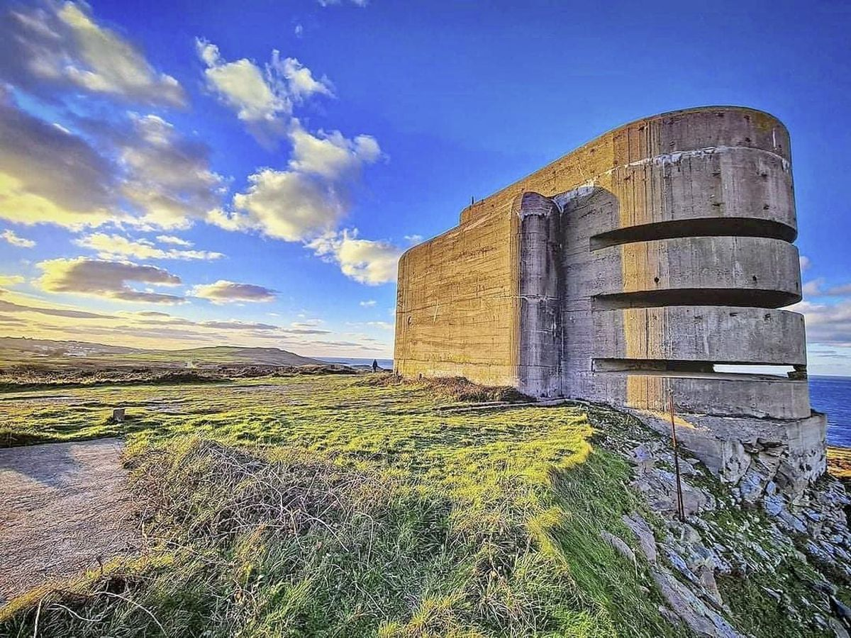 Visit Alderney hopes to reopen the Second World War German naval direction-finding tower, known as The Odeon, to the public again this summer now repairs have been carried out.  (Picture by Dave Kiely)