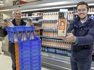 Guernsey Dairy general manager Andrew Tabel, left, with Guernsey Waste waste prevention and recycling officer Ben Henry. The two organisations have joined forces to spread the Love Food Hate Waste message on milk cartons.