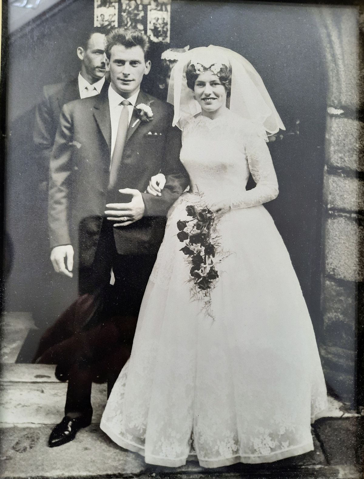Rex and Leona on their wedding day. (29958747)