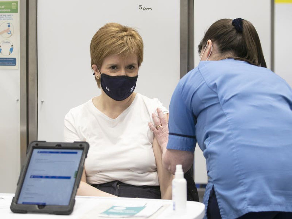 Sturgeon 'emotional' after receiving first Covid vaccine