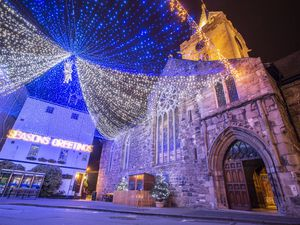 Picture by Sophie Rabey.  04-12-19.  Generic Christmas Lights in Town, St Peter Port.. (29990050)