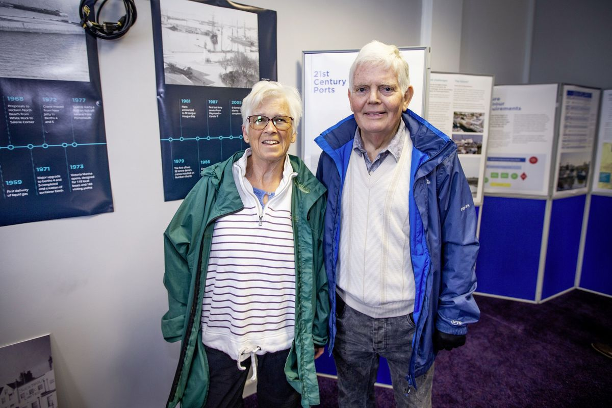 Alison Harris and Peter Harris. (Picture by Sophie Rabey, 29552556)