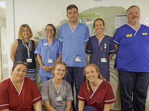 Giffard Ward staff. (Picture by Millie Robinson, 28571215)