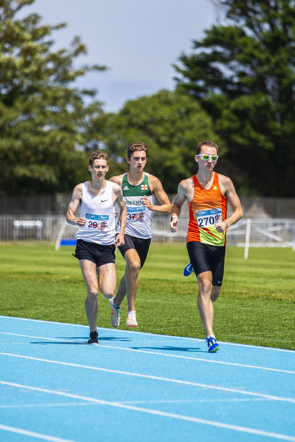 Will Bodkin, right, seen here in action on the track, is back to his very best and showed it on the coastal road stretch. (Picture by Sophie Rabey, 28580928)