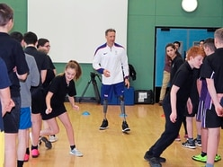 Paralympian gives special PE lesson at Le Murier