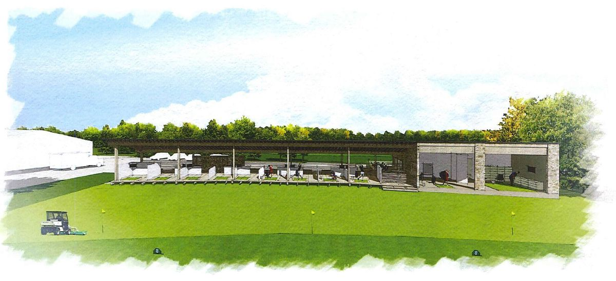 An artist's impression of the planned driving range at La Grande Mare. (29265883)