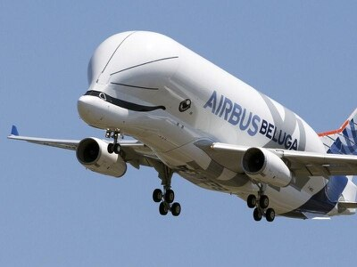 In Pictures: Flying whale takes to the skies as Airbus unveils BelugaXL