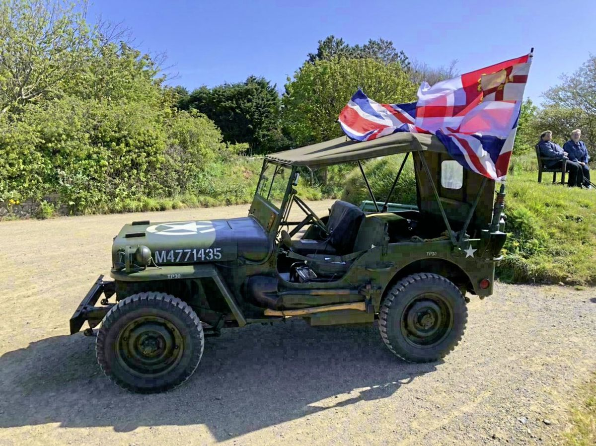 A Jeep was taken to Sark for its Liberation Day by the Guernsey Military History Company. The use of cars is not normally allowed in the island.