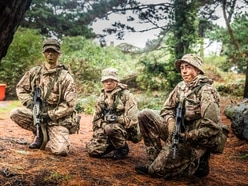 Army Cadets don't mind the wet at Le Guet