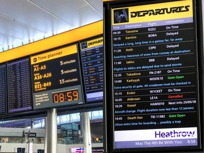 Star Wars Day sees Heathrow Airport scheduling out-of-this-world flights