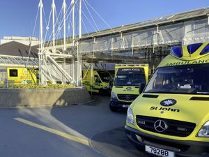 The Emergency Ambulance Service has been under pressure during lockdown with double the normal number of daily calls on two occasions. Inset, chief officer Mark Mapp.   (Picture supplied by Emergency Ambulance Service)