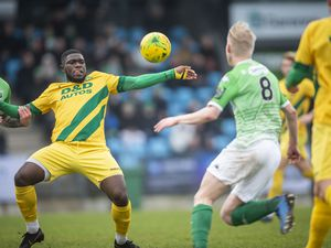 Sorry day in more ways than one: Guernsey FC's 6-0 home defeat by Ashford United on 22 February 2020 was not only a hammering but the Green Lions' last league action.(Picture by Sophie Rabey, 29960889)