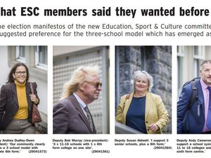 A cutting from page three of today's Guernsey Press [21 December 2020] explaining what members of the new Education, Sport & Culture committee wanted for the future of the island's education before being elected. (29042719)