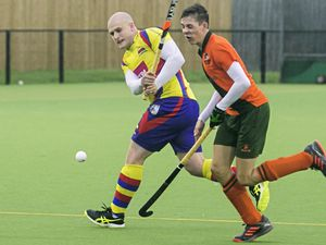 Pic by Adrian Miller 26-10-19    Footes Lane Men's division One hockey - Indies v Colombians (26177322)