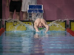 Bending over backwards to return: Elite Guernsey swimmer Charlie-Joe Hallett is back in the pool for a restricted four hours a week. (Picture By Peter Frankland, 28336294)