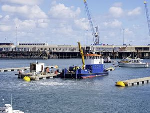 Deputies Neil Inder and Simon Vermeulen want the Pool area of St Peter Port Harbour turned into a revenue-generating marina. (Picture by Juliet Pouteaux, 29634069)