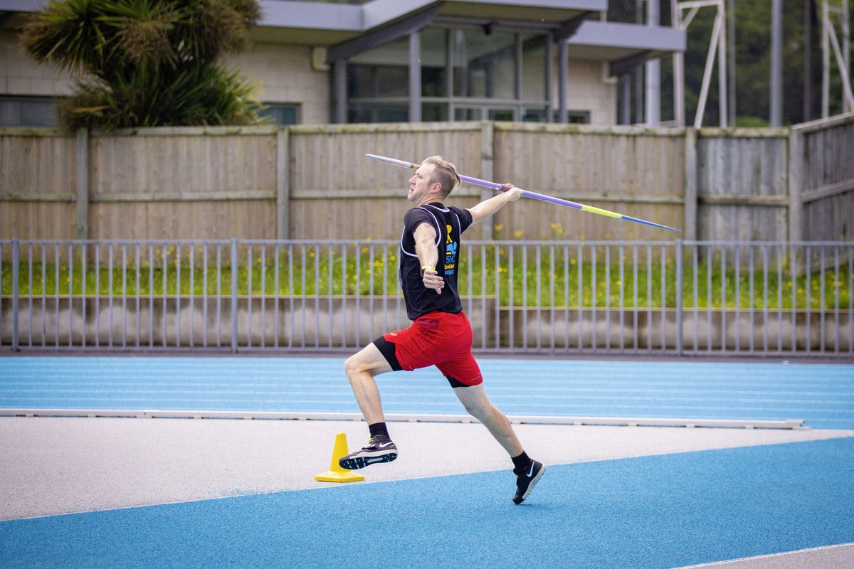 Javelin thrower James Bougourd set a new personal best of 58.90m on Sunday. (Picture by Sophie Rabey, 29700615)