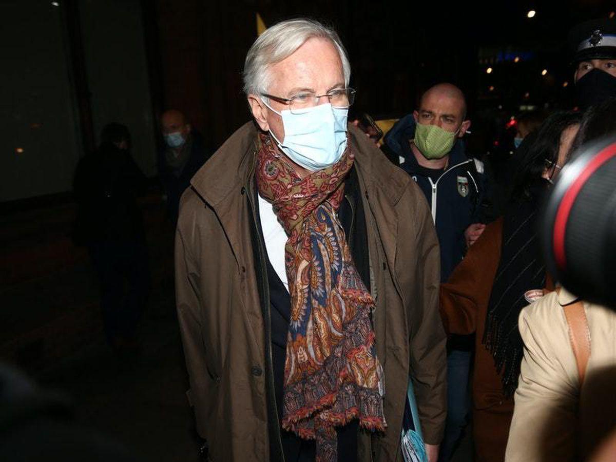 Michel Barnier arrives in London ahead of trade talks resuming