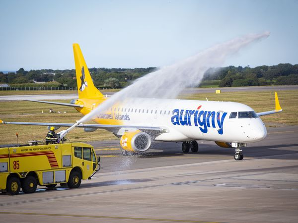 The first Aurigny flight from the Isle of Man arrived into Guernsey Airport in July. (28832943)
